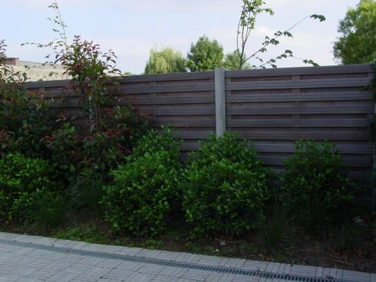 Hardhouten tuinschermen