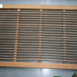 Afgewerkte producten: Hardhouten deurmat in Padoek