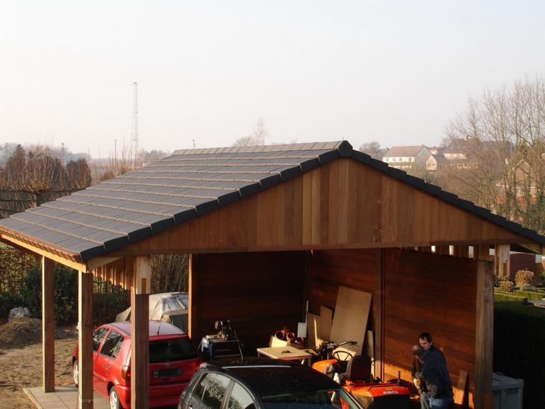 carport in hout. Black Bedroom Furniture Sets. Home Design Ideas