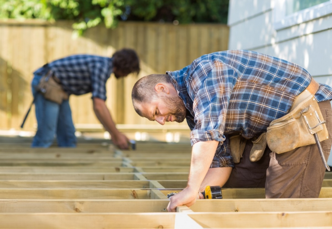 Timber decking faces all types of weather conditions.