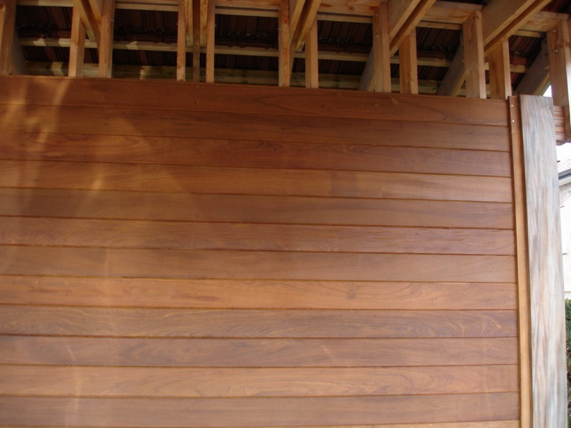 Tropical hardwood, if chosen wisely, is qualitatively the best wood for outdoor use.