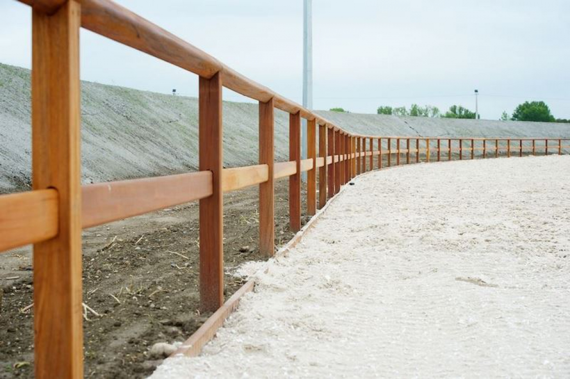 Wooden fencing not only has the advantage of providing an authentic appearance, it also provides more privacy.
