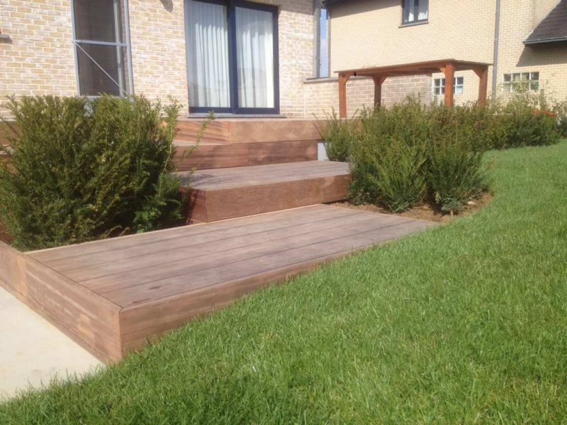 Have you considered wooden decking boards?