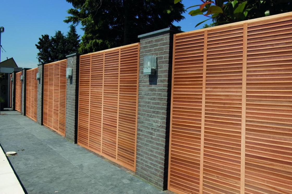 Wooden garden screens