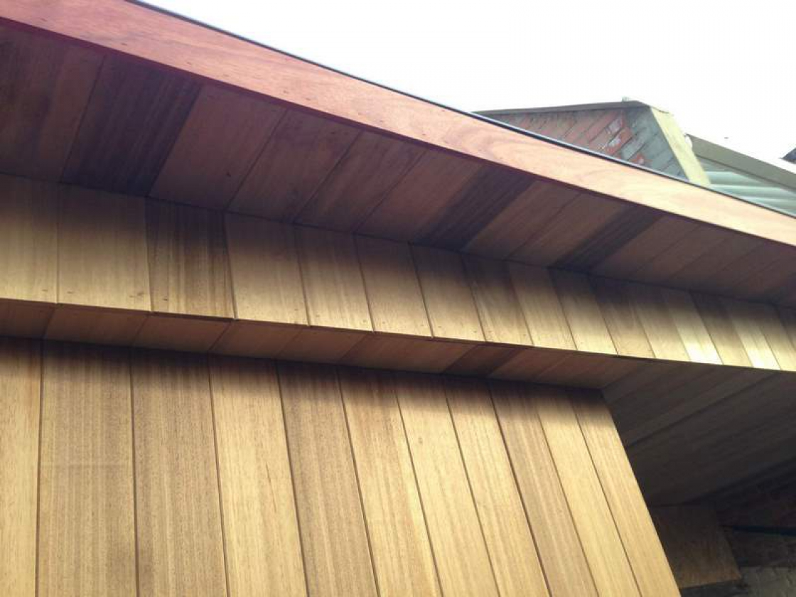Thermowood is thermally modified pinewood from Scandinavia.